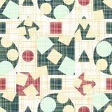 Rétro tissu de conception avec des formes géométriques Photo stock