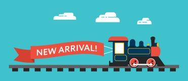 Rétro train dénommé illustration stock