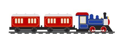 Rétro train dénommé illustration libre de droits