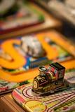 Rétro train de jouet en métal images libres de droits