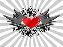 Rétro trame d'amour illustration de vecteur