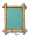 Rétro trame en bambou de photo Photos libres de droits