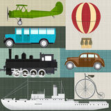 Rétro transport Images libres de droits