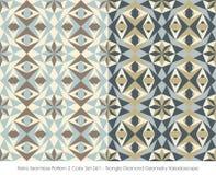Rétro triangle sans couture Diamond Geometry de la couleur Set_061 du modèle 2 illustration de vecteur