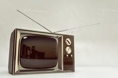 Rétro TV d'isolement sur le fond blanc Photos libres de droits