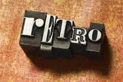 Rétro type Images stock