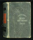 Rétro type Couverture de livre antique de journal de journal intime de vintage image libre de droits