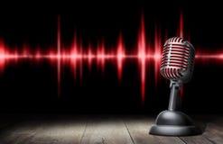 rétro type de microphone image stock