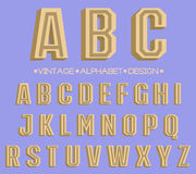 Rétro type police, typographie de vintage Photographie stock