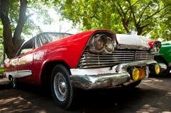 Rétro véhicule au Cuba Images stock
