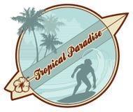 Rétro-vague déferlante tropicale Photo libre de droits