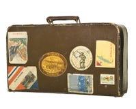 Rétro valise Photographie stock libre de droits