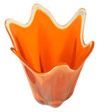 Rétro vase orange - d'isolement Photos stock