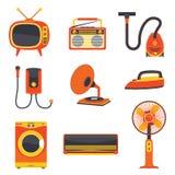 Rétro vecteur électrique d'appareil ménager illustration de vecteur