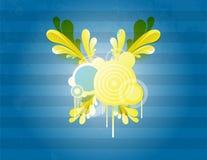 Rétro vecteur bleu illustration stock