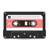 Rétro vecteur de cassette sonore Bande en plastique de cassette sonore Vieille technologie, illustration réaliste de conception D Photos libres de droits