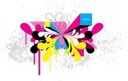Rétro vecteur de CMYK illustration stock