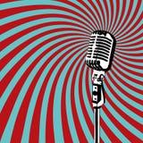 Rétro vecteur de microphone Image libre de droits