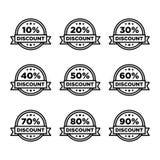 Rétro vecteur de promotion des ventes de vente d'insigne de remise Images libres de droits