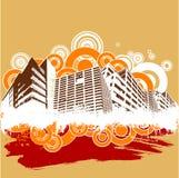 Rétro vecteur de ville Image libre de droits