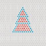 Rétro vecteur Dots Tree Images stock
