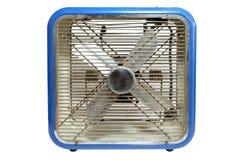 Rétro ventilateur électrique bleu Images libres de droits