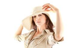 Rétro verticale de dame de beauté Photos stock