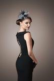 Rétro verticale de femme de type Photo stock