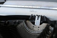 Rétro vieille machine à écrire Image stock