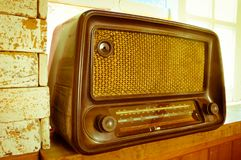 Rétro vieille radio, vintage filtré Photo libre de droits
