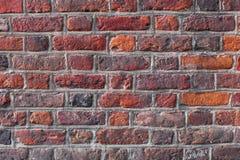 Rétro vintage de fond rouge de mur de briques Photos libres de droits