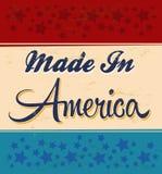 Rétro - vintage fait dans le signe de l'Amérique illustration libre de droits
