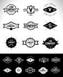 Rétro vintage Logo Set Photo stock