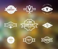Rétro vintage Logo Set Images libres de droits