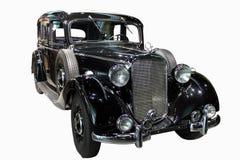 Rétro voiture noire Photographie stock libre de droits