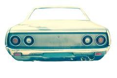 Rétro voiture sur le fond blanc Photos libres de droits