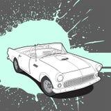 Rétro voiture sur le fond lumineux Photos libres de droits