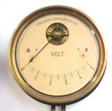 Rétro voltmètre Images stock