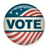 Rétro vote ou élection Pin Button ou insigne Photos stock