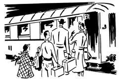 Rétro voyage 01 illustration de vecteur
