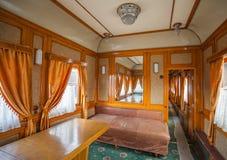 Rétro wagon de train Images stock