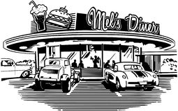 Rétro wagon-restaurant Image libre de droits