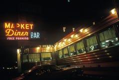 Rétro wagon-restaurant de bord de la route image libre de droits