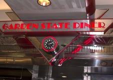 Rétro wagon-restaurant de style dans le New Jersey de Newark photographie stock libre de droits