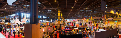 The crowd at RetroMobile Paris  Royalty Free Stock Photography