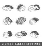 Rétros éléments de boulangerie Images stock