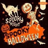 Rétros éléments de Halloween de vintage illustration de vecteur