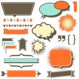 Rétros éléments de l'espace de copie illustration stock