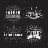 Rétros éléments pour les conceptions calligraphiques du jour de père Vintage ou Photo stock