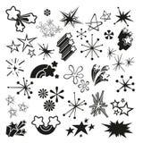 Rétros étoiles et Starbursts de vintage illustration stock